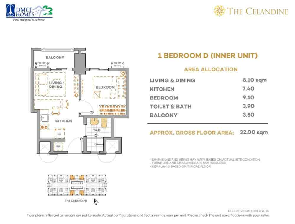 The Celandine Residences - 1 Br D Inner Unit