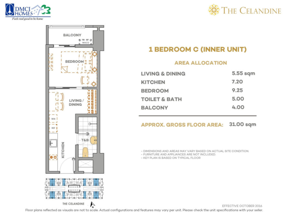 The Celandine Residences - 1 Br C Inner Unit