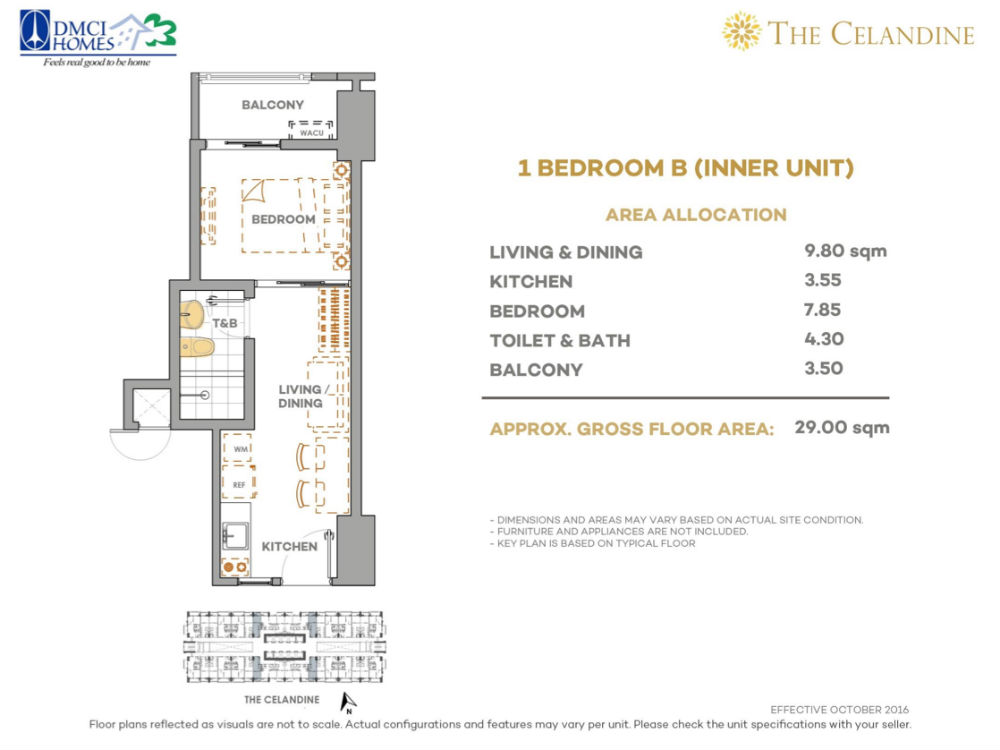 The Celandine Residences - 1 Br B Inner Unit