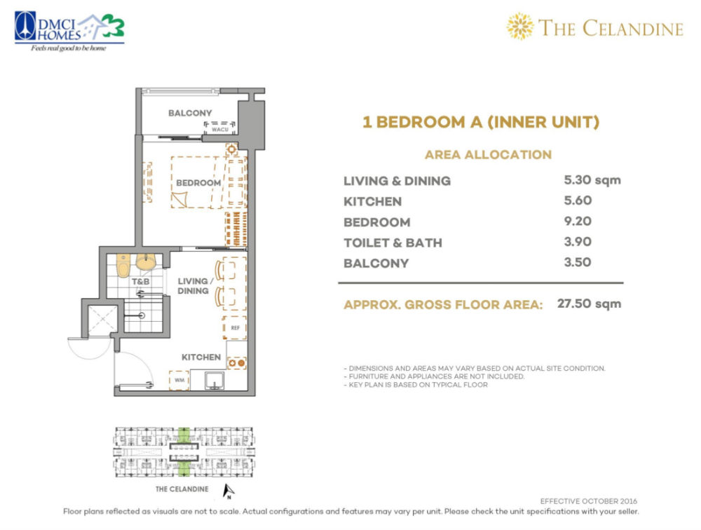 The Celandine Residences - 1 Br A Inner Unit
