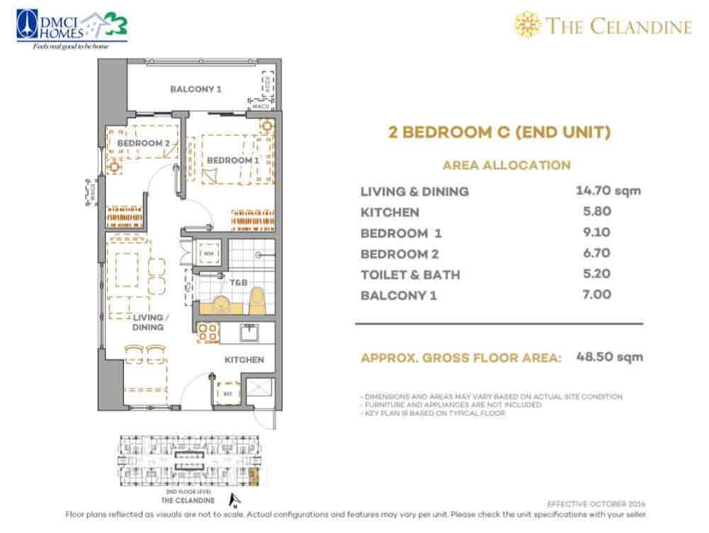 The Celandine Residences - 2 Br C Inner Unit