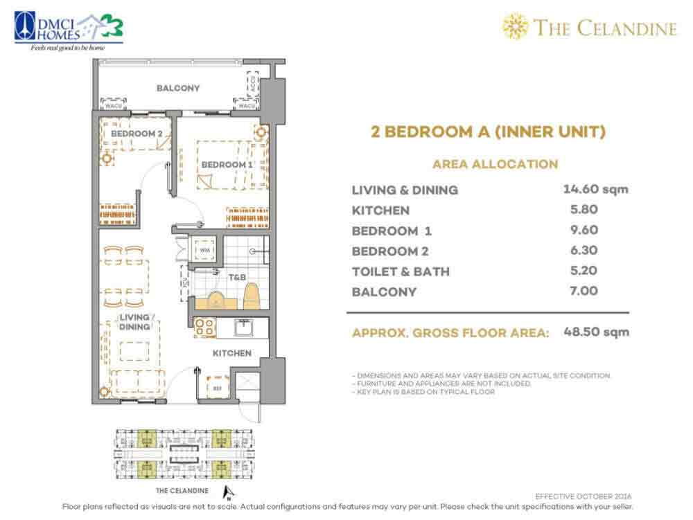 The Celandine Residences - 2 Br A Inner Unit