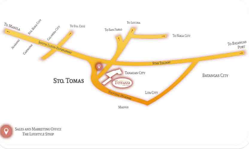 Terrazza De Sto. Tomas - Location & Vicinity