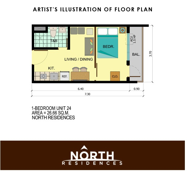 North Residences - One Bedroom Unit