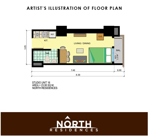 North Residences - Studio Unit