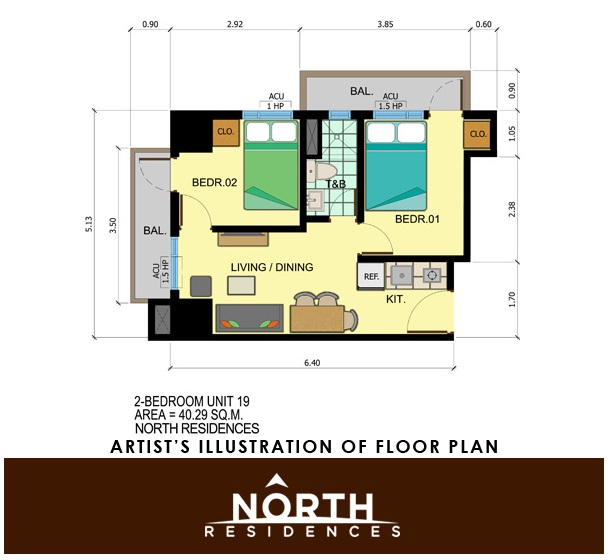 North Residences - Two Bedroom Unit