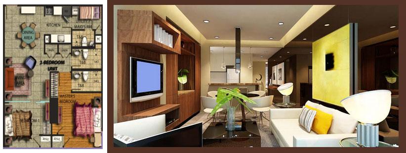 27 Annapolis - 2 Bedroom Floor Plan