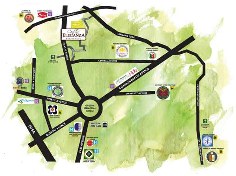 Centrina Eleganza Residences - Location & Vicinity
