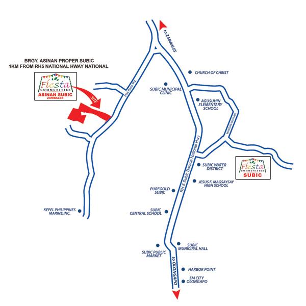 Fiesta Communities Asinan - Location Map