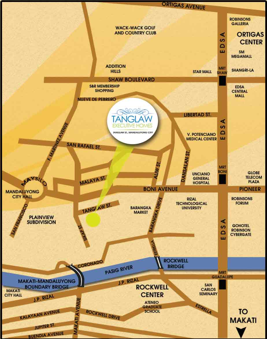 Tanglaw Executive Homes - Location & Vicinity