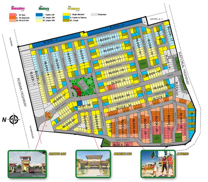 Fiesta Communities Limay Bataan - Subdivision Map