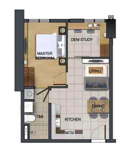 East Bay Residences - 1 Bedroom with Den