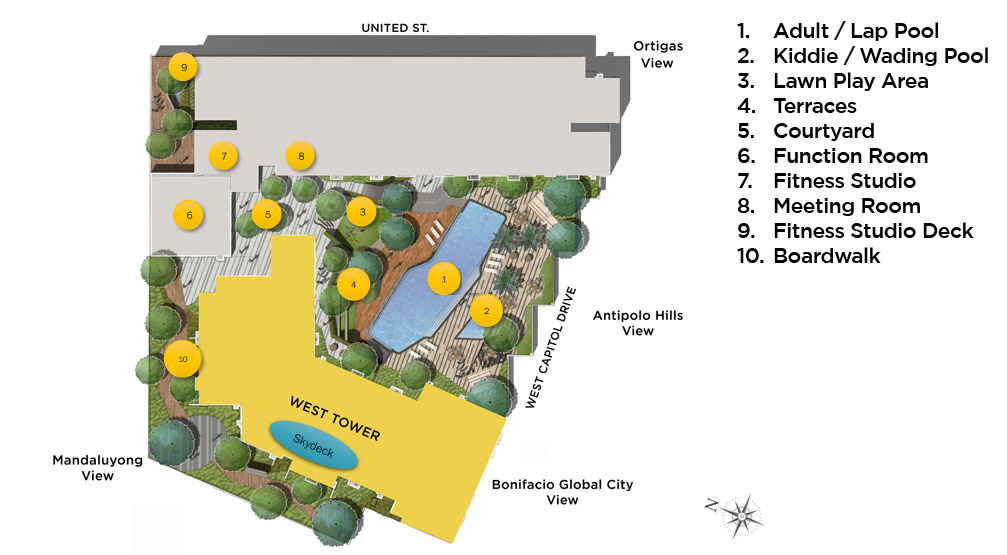 The Vantage - Amenities Map