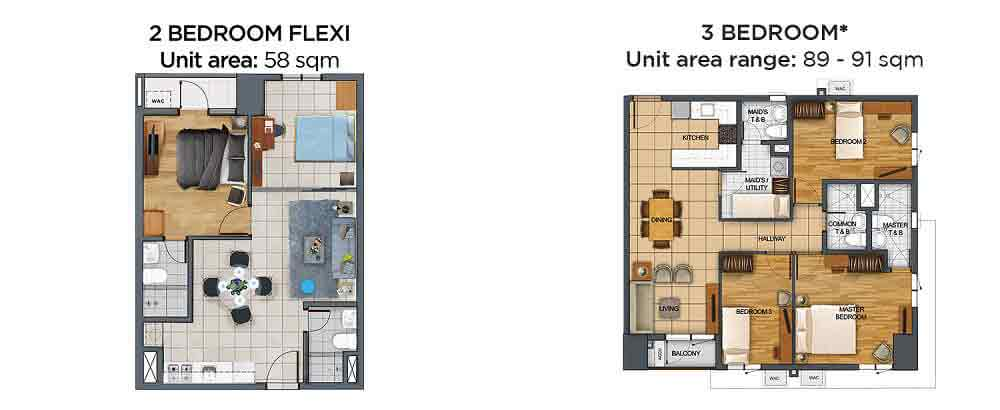 The Vantage - 2 BR Flexi and 3 BR Unit