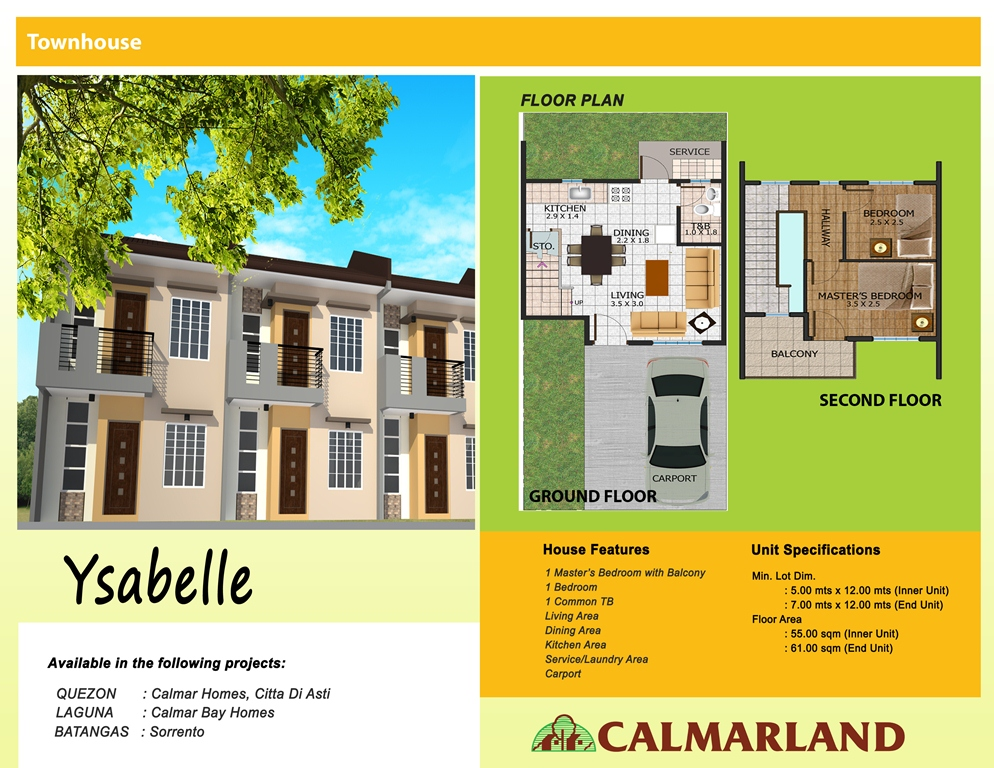 Calmar Bay Homes - Ysabelle Townhouse
