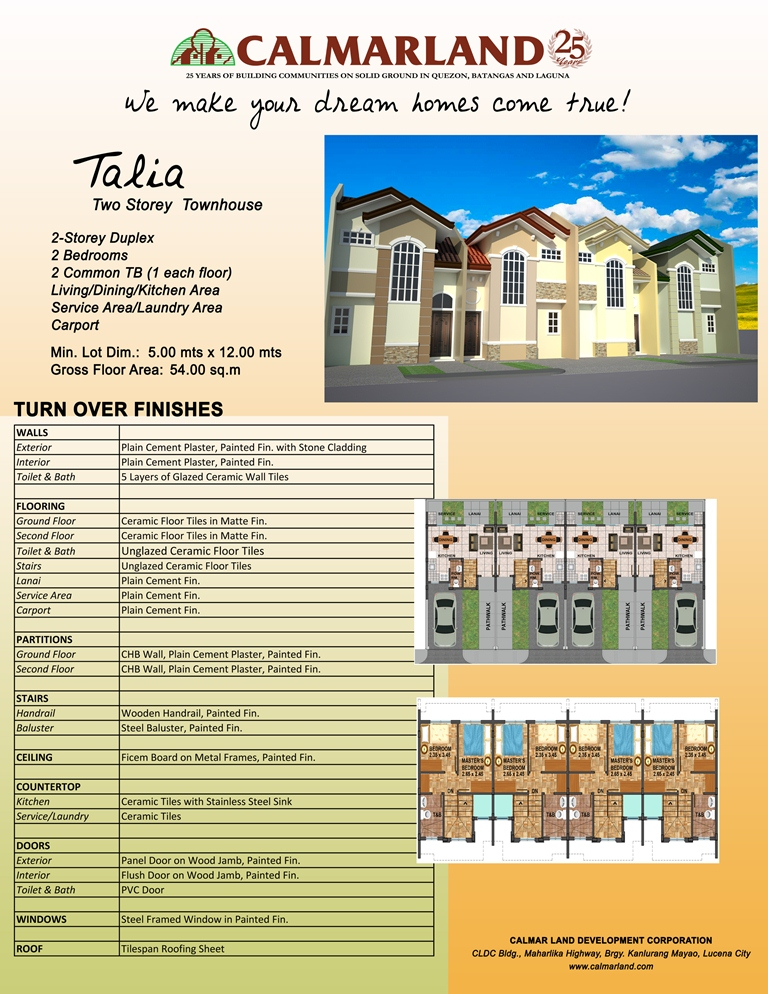 Calmar Homes - Talia Townhouse