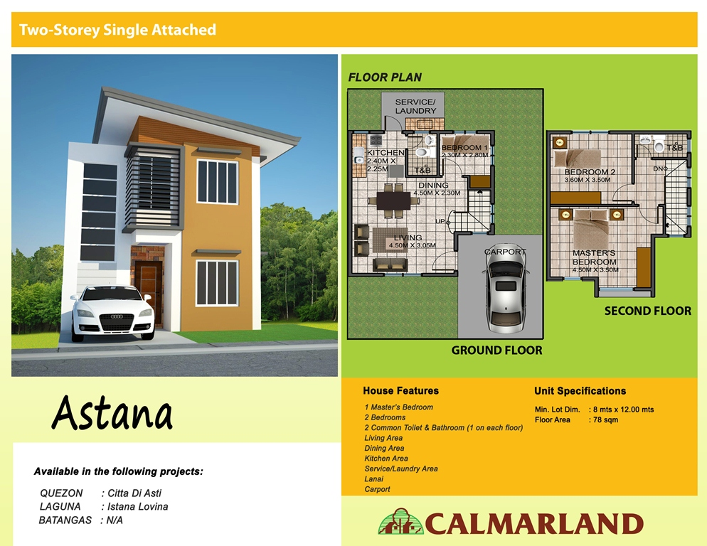 Calmar Homes - Astana Single Attached