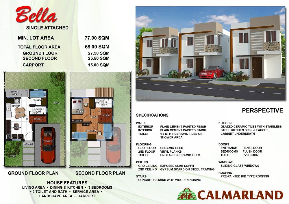 Calmar Homes - Bella (Single Attached)