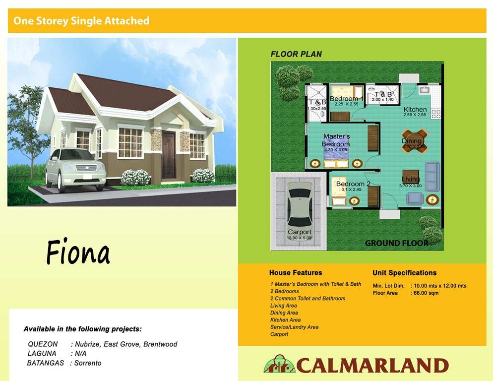 Calmar Homes - Fiona Single Attached