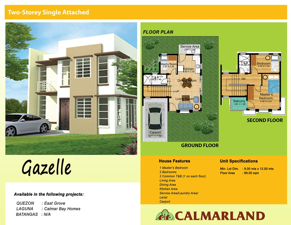 Calmar Homes - Gazelle (Single Attached)