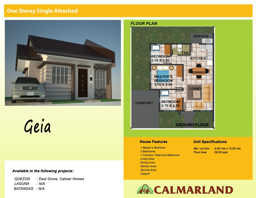 Calmar Homes - Geia Single Attached