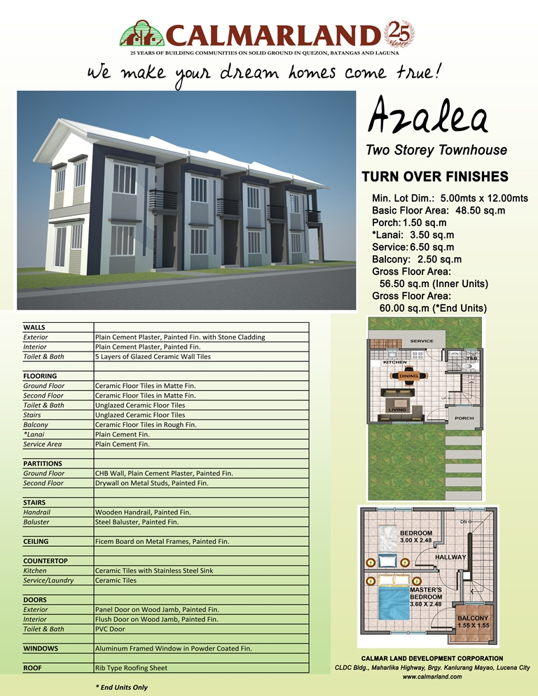 Calmar Homes North - Azalea Townhouse