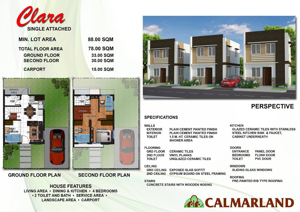 Calmar Homes North - Clara (Single Attached)