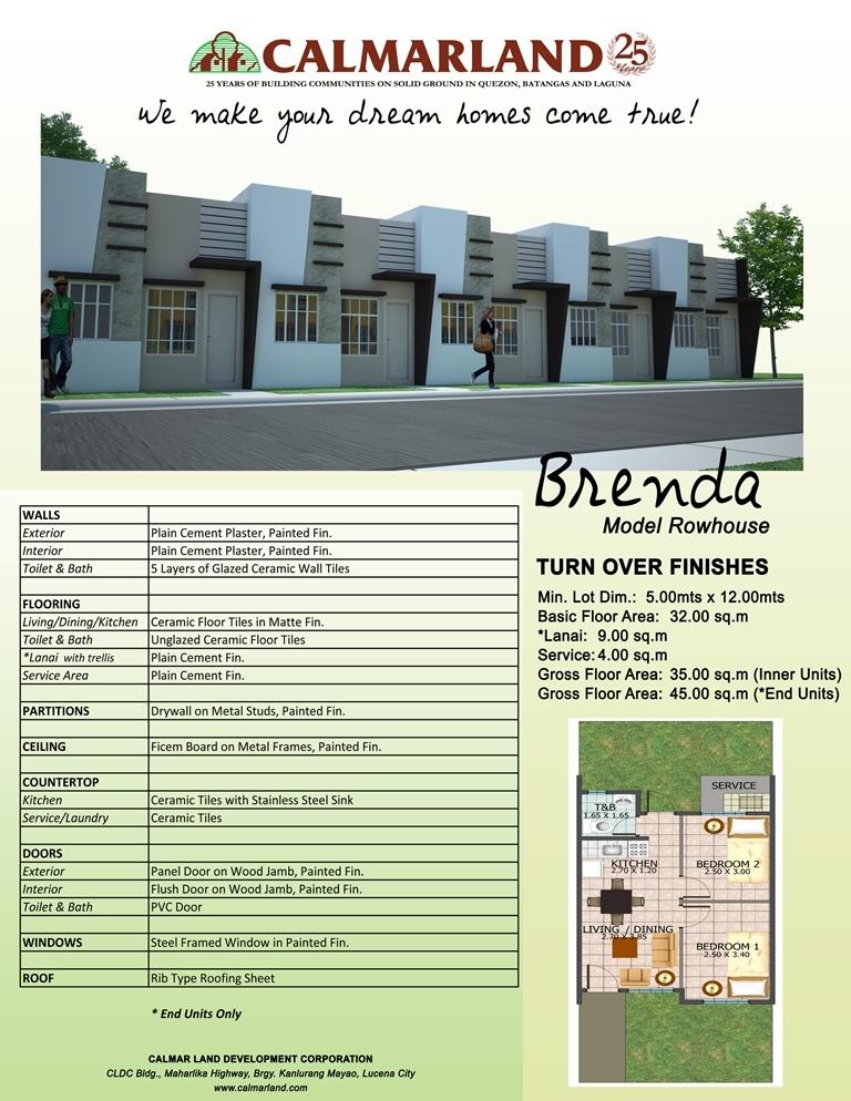 Cosmopolitan Homes   Brenda Rowhouse. Brenda Rowhouse
