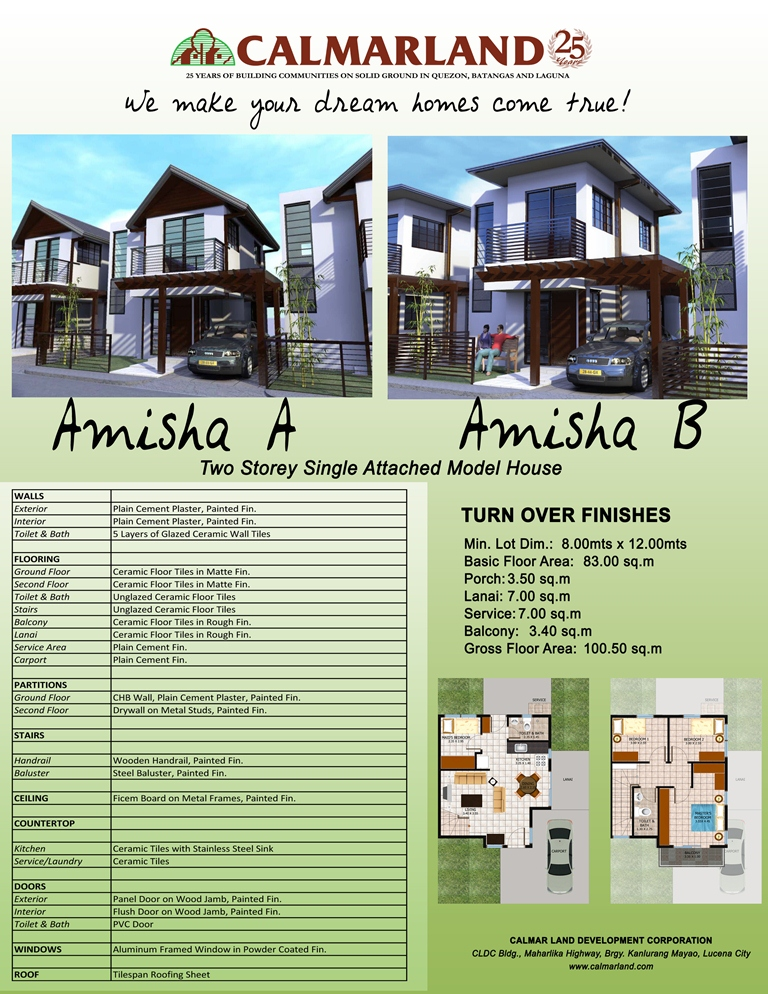 Nubrize - Amisha Two Storey Single Attached