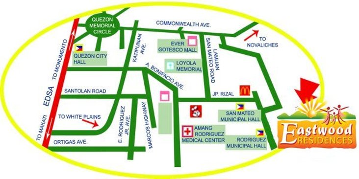 Eastwood Residences - Location & Vicinity