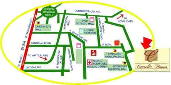 Centella Homes - Location & Vicinity