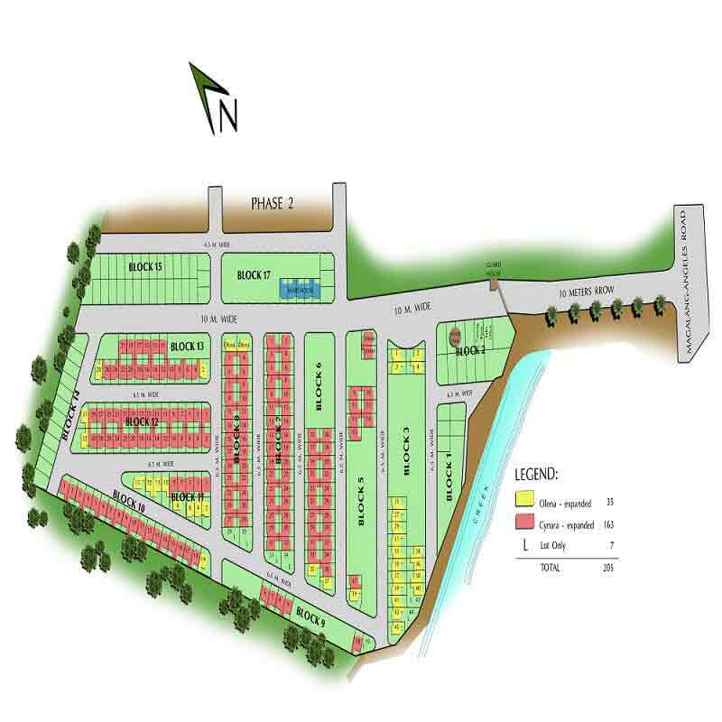 Bloomfield Mabalacat Phase 1 - Site Development Plan