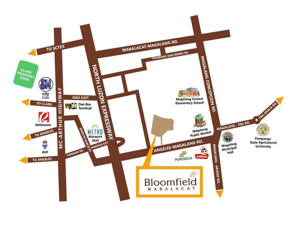 Bloomfield Mabalacat Phase 1 - Location & Vicinity