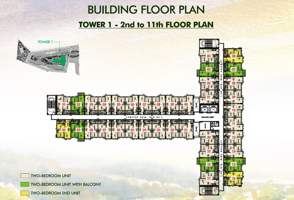 Vine Residences - Tower 1 - 2nd to 11th Floor Plan