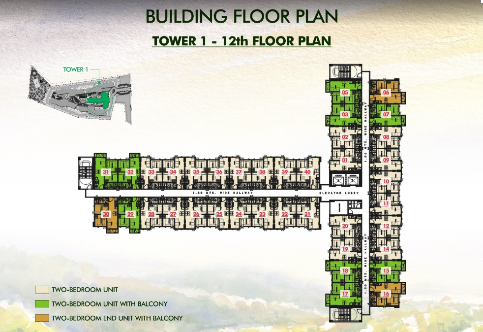 Vine Residences - Tower 1 - 12th Floor Plan