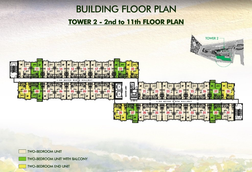 Vine Residences - Tower 2 - 2nd to 11th Floor Plan