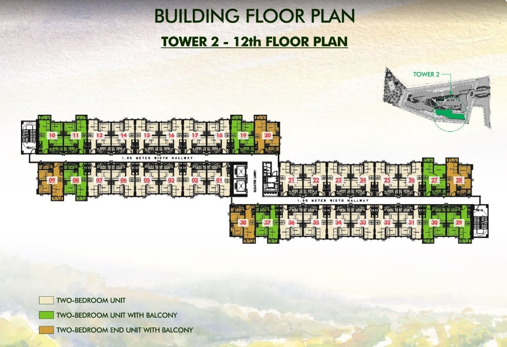 Vine Residences - Tower 2 - 12th Floor Plan