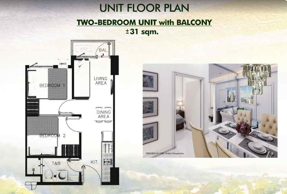 Vine Residences - Two Bedroom Unit with Balcony