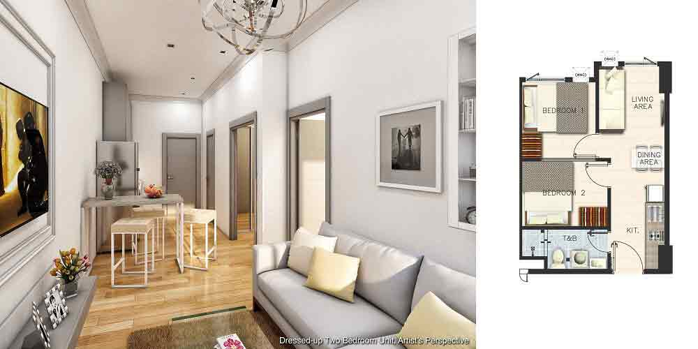 Vine Residences - Dressed up Two Bedroom Unit