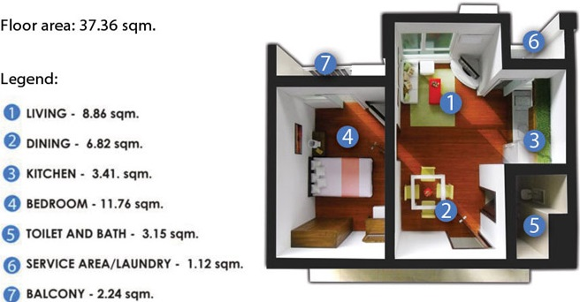 Anuva Residences - 1 Bedroom Unit