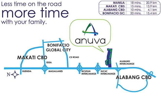 Anuva Residences - Location & Vicinity