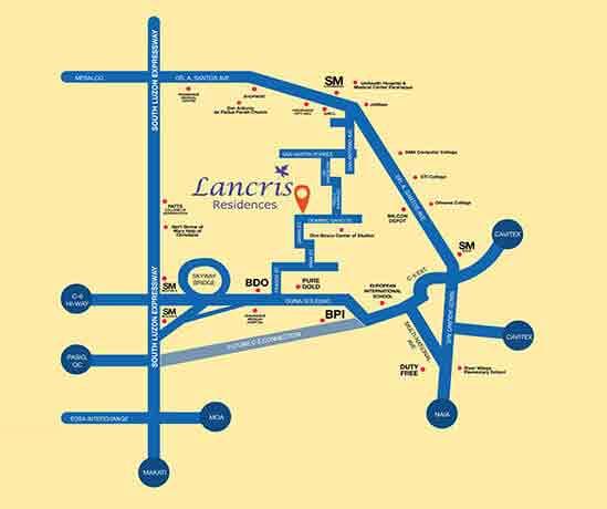 Lancris Residences - Location & Vicinity