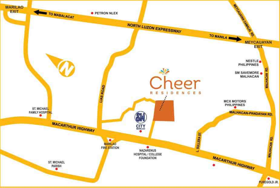 Cheer Residences - Location & Vicinity