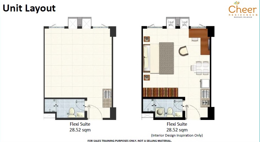 Cheer Residences - Flexi Suite Unit Layout