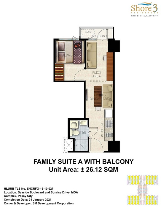 Shore 3 Residences - Family Suite A with Balcony