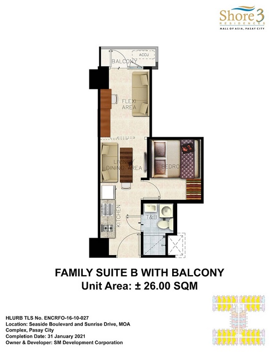 Shore 3 Residences - Family Suite B with Balcony