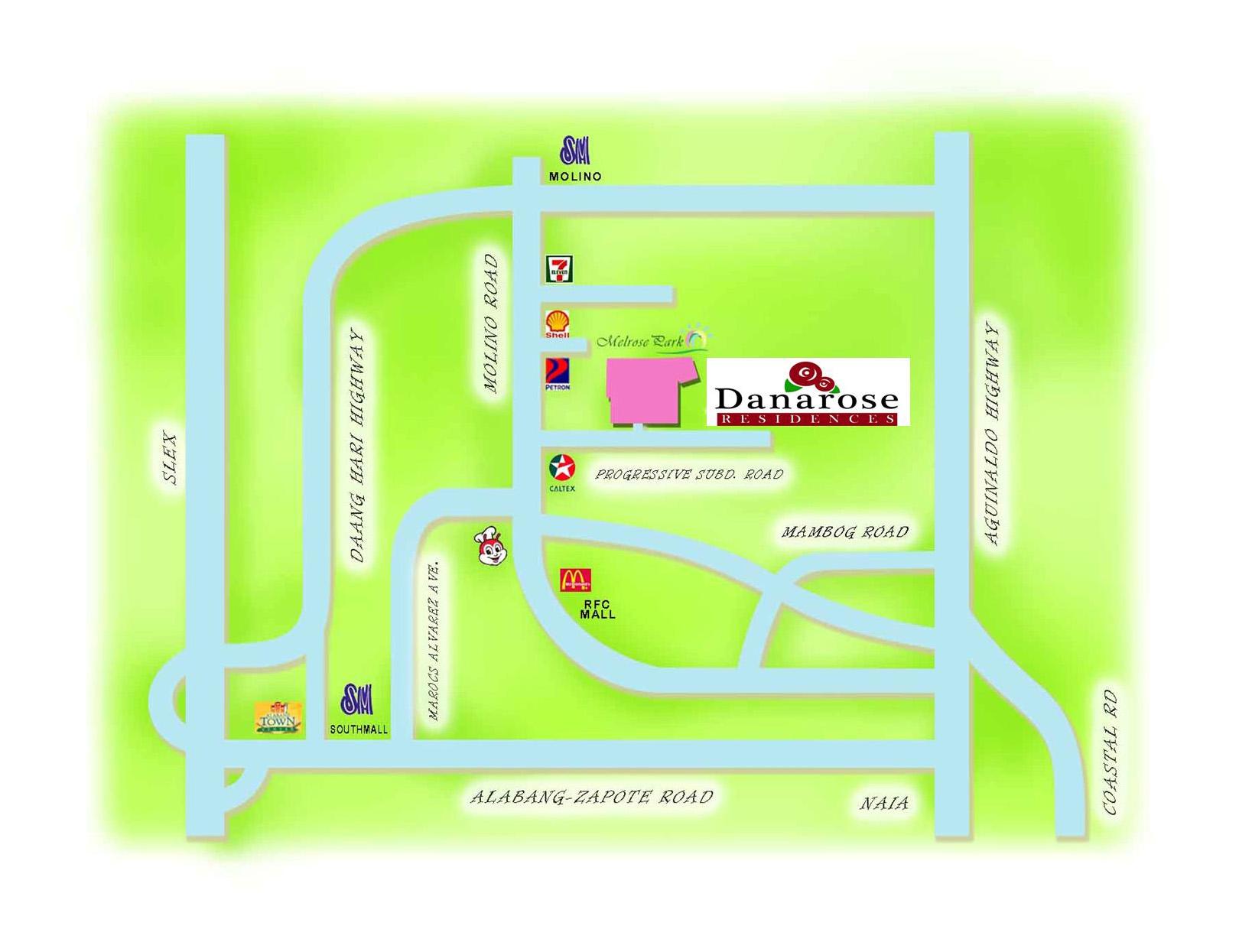 Danarose Residences - Location & Vicinity
