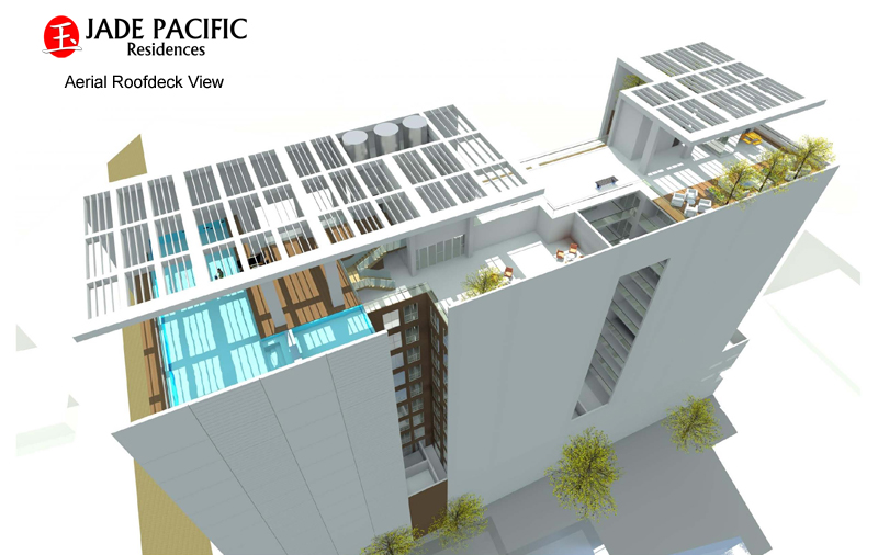 Jade Pacific Residences - Aerial Roofdeck View