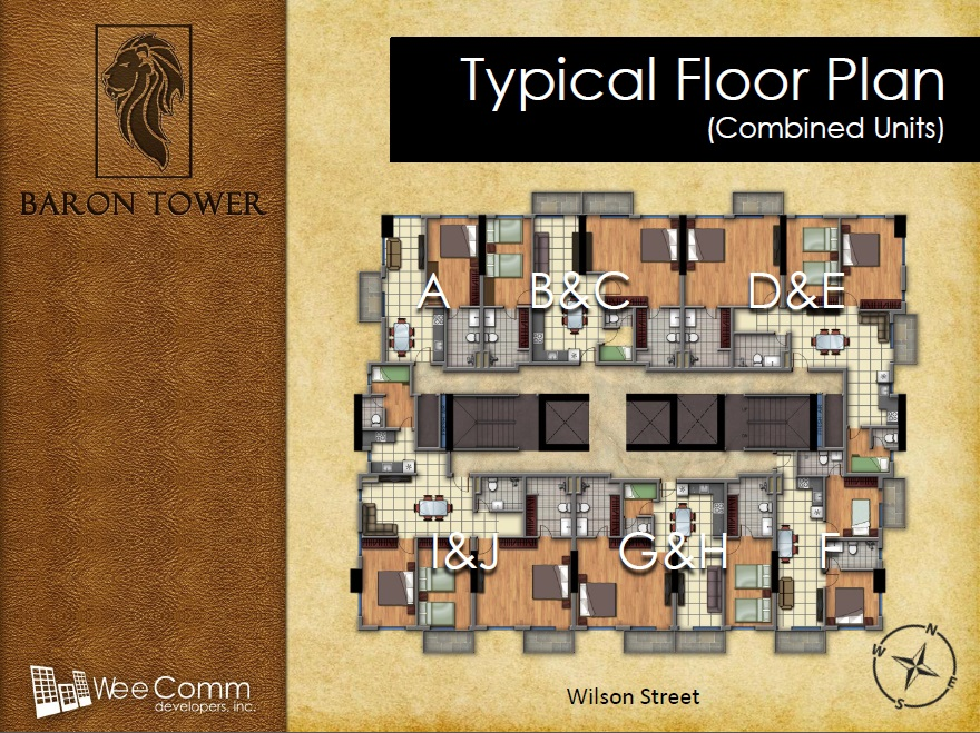 Baron Tower - Typical Floor Plan - Combined Units