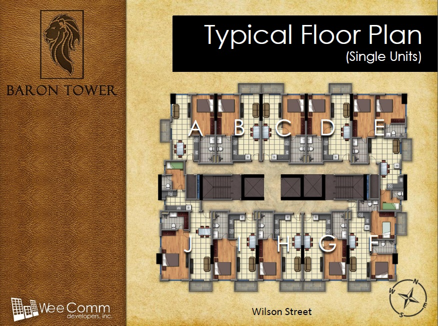 Baron Tower - Typical Floor Plan - Single Units